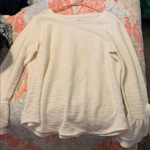 Sweater with ruffle sleeves